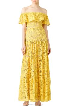 Rent Yellow Reese Maxi by Dress The Population for $35 - $45 only at Rent the Runway.