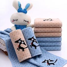 1pcs Cartoon Cat Bath Towel Soft 100% Cotton Face Towel Beauty Towels Bathroom Use 34*76CM B7