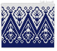 Option For Tiled Quilt - Knitting - Fo Option - Diy Crafts - Qoster Fair Isle Knitting Patterns, Fair Isle Pattern, Crochet Stitches Patterns, Knitting Charts, Knitting Stitches, Cross Stitch Patterns, Cross Stitching, Cross Stitch Embroidery, Khadra