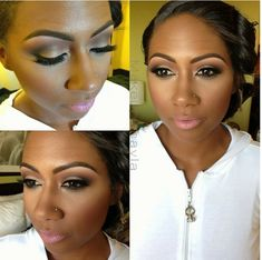 Perfect make up for deep skin tone /dark skin/brown skin - for a night out; too much for the daytime