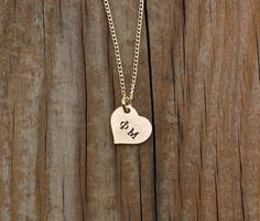 Phi Mu Heart Necklace Gold Filled  Sorority by TomisTreasures, $34.00