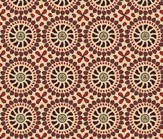 Pomegranate fabric by ravynscache on Spoonflower - custom fabric