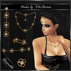 Floral Jewellry set on EliaDevires Account Check the shope for all the pieces please