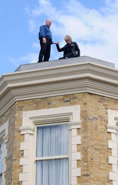 EastEnders' Shirley Carter proposes to Phil Mitchell on top of the Vic as she realises just how much she loves him.