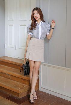 Korean Women`s Fashion Shopping Mall, Styleonme. Korea Fashion, Asian Fashion, Girl Fashion, Fashion Outfits, Womens Fashion, Cute Asian Girls, Beautiful Asian Girls, Korean Women, Black Handbags