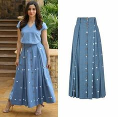 Skirt Long Design Fashion 39 Trendy Ideas is part of Long skirt - Choli Dress, Frock Dress, Indian Designer Outfits, Designer Dresses, Skirt And Top Dress, Casual Dresses, Fashion Dresses, Bcbg, Western Dresses