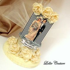Mr Mrs Cake Topper Vintage Bride & Groom Paper by lolliecouture, $88.00