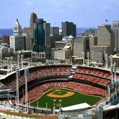 vintage downtown cincinnati skyline day time - Google Search