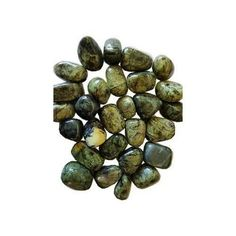 """About 3//4/"""" Crystal Healing Reiki Chakra 1/"""" Lot of 3 Serpentine Tumbled Stone"""