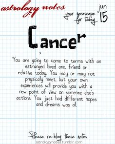 Hey Cancer, your daily horoscope for the day is interesting! Visit iFate.com today!