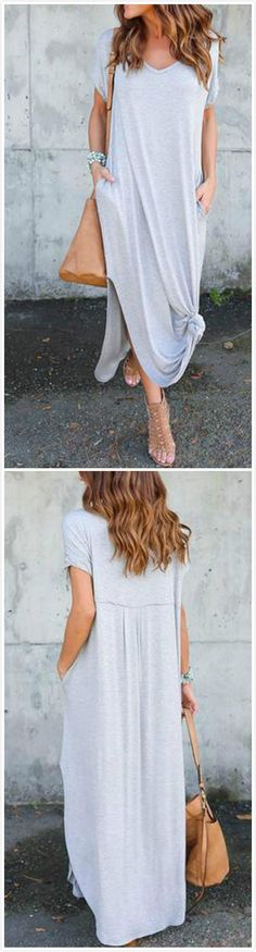 How to wear fall fashion outfits with casual style trends Summer Outfits, Casual Outfits, Cute Outfits, Casual Shirts, Spring Summer Fashion, Autumn Fashion, Side Slit Maxi Dress, Quoi Porter, Look Fashion