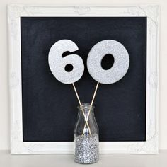 An easy and simple party decoration made in minutes with high impact   glitter foam decorations