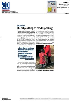 Speaking Agency : 20 minutes, Mai 2012