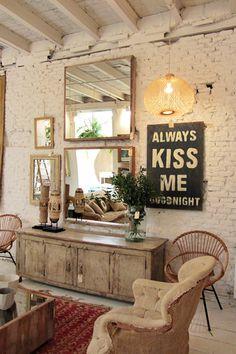 Un conjunto vintage que crea un ambiente muy acogedor. Más