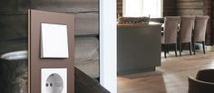 Designrammen Esprit linolium fra Gira er perfekt for hytteveggen. Micro Matic Norge Divider, Mirror, Room, Furniture, Design, Home Decor, Bedroom, Decoration Home, Room Decor