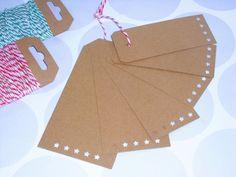 Geschenkanhänger - 6 XL Geschenkanhänger Kraftpapier - ein Designerstück von ilike_specials bei DaWanda