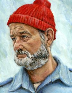 Bill Murray is the most epic human. Thats just the way it is. And Steve Zissou is a brilliant character in every way.  Printed on beautiful