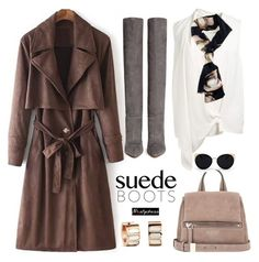 """""""Style Staple: Suede Boots"""" by paculi ❤ liked on Polyvore featuring Gianvito Rossi, Victoria Beckham, Givenchy, Una-Home, suedeboots and nastydress"""