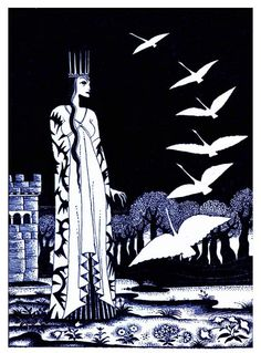 Kay Nielsen fairy tale art and illustrations. Kay Nielsen's enchanting illustrations to Grimm's Fairy Tales, the Fairy Tales of Hans Christian Andersen, East of the Sun West of the Moon, Twelve Dancing Princesses, and others. Kay Nielsen, Grimm, Best Fairy Tales, Disney Artists, Satan, Fairytale Art, We Are The World, Magic Art, Black And White Illustration
