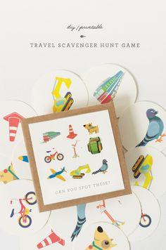 DIY | Travel Scavenger Hunt Game Printable | little monster