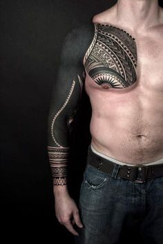 One Awesome Blackwork tattoo Sleeve
