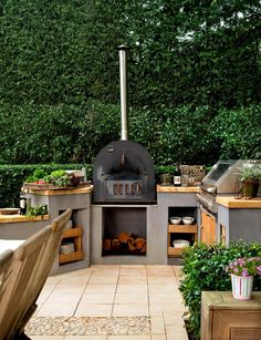 Bbq area garden pizza oven outdoor, outdoor kitchen design и Decking Ideas On A Budget, Small Garden Decking Ideas, Sloped Backyard, Small Backyard Landscaping, Backyard Patio, Backyard Ideas, Landscaping Ideas, Patio Ideas, Garden Ideas