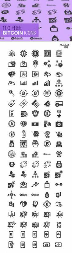 The Bitcoin Icon Set (100 Icons, SVG & JPG)
