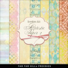 Far Far Hill - Free database of digital illustrations and papers: New Freebies Kit - Artistic Paper 2 Free Digital Scrapbooking, Digital Scrapbook Paper, Digital Paper Freebie, Printable Scrapbook Paper, Printable Paper, Digital Papers, Free Printable, Decoupage, Free Prints