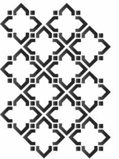 Stencil Patterns, Stencil Designs, Pattern Art, Quilt Patterns, Baroque Pattern, Tattoo Painting, Art Deco Tattoo, Black And White Art Drawing, Textile Prints