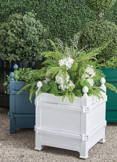 The boxed planters of the Orangerie and gardens at the Palace of Versailles have been icons since Louis XIV began his orange tree collection in 1663. We have replicated the famed design with our exclusive cast-aluminum Versailles Planter, versatile enough for citrus trees, olive trees, boxwood (especially topiary), or large plants. Perforated bottom for drainage. Citrus Trees, Palace Of Versailles, Garden Oasis, Louis Xiv, Large Plants, Olive Tree, Topiary, Planters, It Cast