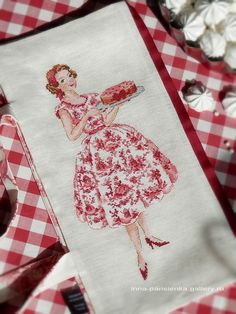 Toile cross stitch
