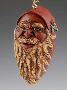 Black Santa Claus Ornament
