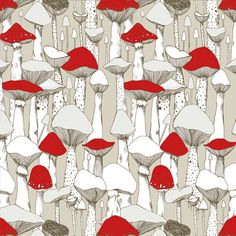 Mushrooms Pattern by @Marina Zlochin Molares