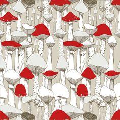 Mushrooms Pattern by @Marina Molares