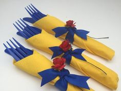 DIY Beauty and the Beast Cutlery and more party ideas