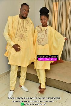 Couples African Outfits, Couple Tees, Latest African Fashion Dresses, Couture, Beautiful Couple, Sari, Mens Fashion, Collection, African Men