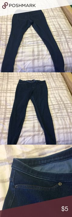 Blue jeggings Blue jeggings with gold lining in pockets!! Jeans Skinny