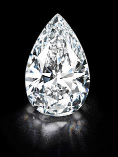 The 'Winston Legacy' is the biggest white diamond ever to come to auction. The 101.73ct pear-shaped D colour flawless diamond was sold to Harry Winston at Christie's auction of jewels in Geneva on 15 May 2013. Christies Images Ltd 2013