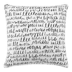 kate spade new york This Is The Life Square Throw Pillow in White/Black - BedBathandBeyond.com
