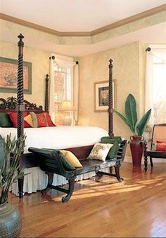 64 Stunning Dark Wood Bedroom Furniture Ideas - About-Ruth Tropical Bedrooms, Tropical Home Decor, Coastal Bedrooms, Tropical Furniture, Tropical Interior, British Colonial Bedroom, British Colonial Style, West Indies Decor, Dark Wood Bedroom Furniture