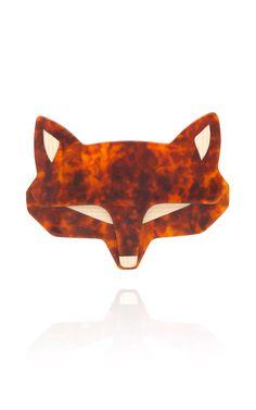 Lea Stein Fox Face Pin