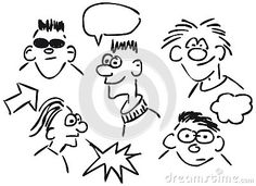 Cartoon faces by Drizzd, via Dreamstime