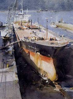 Trevor Chamberlain, Watercolor