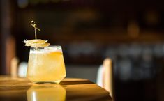 Mountain Man: In this kicked up whiskey sour, Natasha David forgoes fresh peaches in lieu of Giffard's Pêche de Vigne to accentuate the roundness of maple syrup and the spice of ginger.