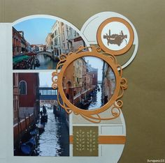 Venise-Gab Orion Orient Express, Travel Scrapbook, Scrapbook Pages, Great Places, Places To See, Scrapbooking Layouts, Stencils, Paper Crafts, Photos