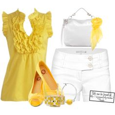 Yellow and white contest......
