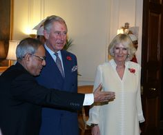 The Prince and Duchess continued their tour of India with a meeting with the President, visiting SEWA and the Aksharadham Temple. 8th November 2013