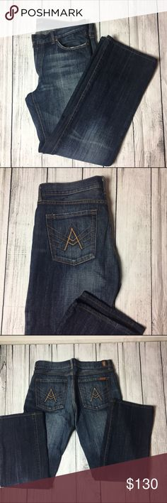 "7 for all mankind jeans  Men's 7 for all mankind jeans. They are brand new. NWOT. They are made out of 100% cotton materials. Has four usable pockets. Length 30.5"" (about). 7 For All Mankind Jeans Slim"