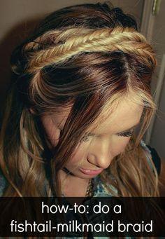 fishtail-milkmaid braid how to