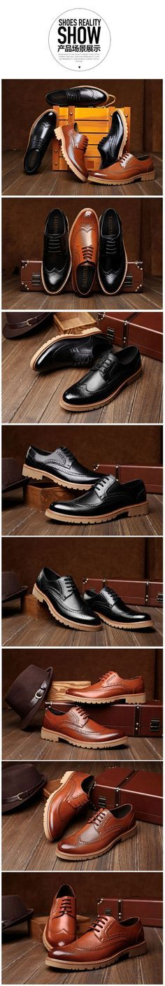 3fe4b2961c Baroque Oxfords Retro Brogues Carving Elevator Dress shoes Height  Increasing 8cm   3.15inches Men s Dress